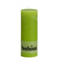 Rustiek kaarsen 190x68 Licht groen