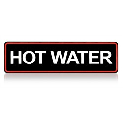Sticker hot water