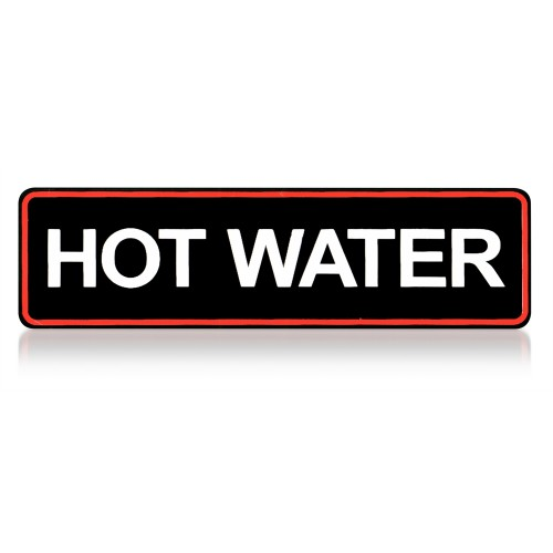 Sticker hot water