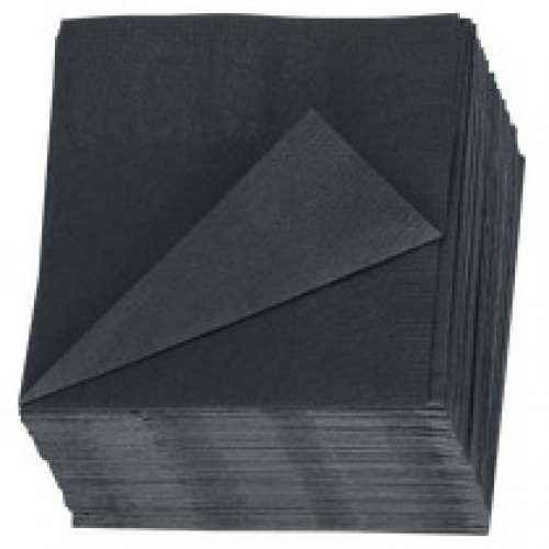24x24 2-lgs barservet zwart